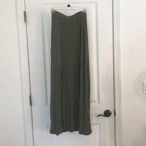 Army green bodycon skirt